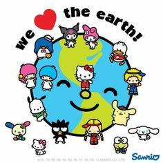 Hello Kitty ❤ we love earth