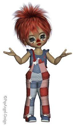 *Angie's Free Poser Tubes*: Tubes Kiki Clown