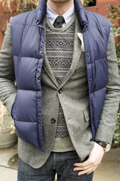 layers of grey and blue
