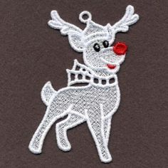FSL White Christmas embroidery design