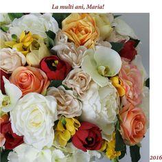 La multi ani! #aranjament #flori #artificiale #floriartificiale #decoratiuni #cadou #unicat #lamultiani #maria #sfmaria #sfantamaria #infrumusetare #casa #birou #flowerstagram www.beatrixart.ro