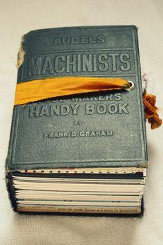 Machinists Art Journal - Junquemail Contessa (Handmade - Book Binding)