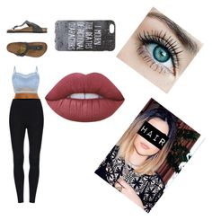 """""""Untitled #49"""" by simbababexo ❤ liked on Polyvore featuring Lipsy, Birkenstock and Lime Crime"""
