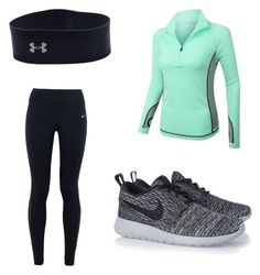 """""""Untitled #39"""" by jennnasmith ❤ liked on Polyvore featuring NIKE, LE3NO, Under Armour, women's clothing, women's fashion, women, female, woman, misses and juniors"""
