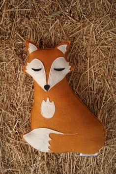 Forest Critters- Sleepy Fox with Pine Cone- Eco Friendly- Woodland Gardening Animal. $34.00, via Etsy.