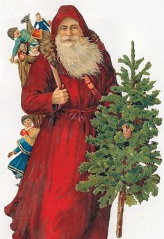 Old World Santa Claus | Santa Claus Vintage 331, Free Wallpapers, Free Desktop Wallpapers, HD ...