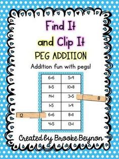 Peg Addition - Numbers to Twenty $