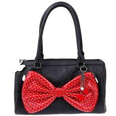 Mulher - Acessórios - Minnie Mouse Bag Bow Polka Dot - Freemans, found on polyvore.com