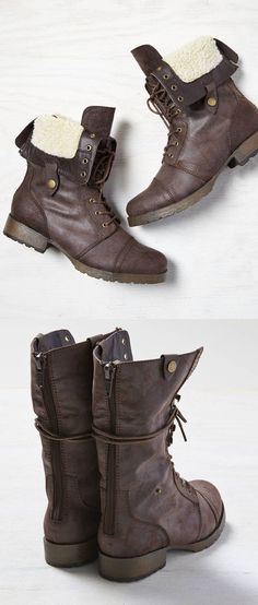 Fold down boots