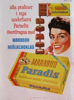 Marabou Mjölkchoklad 1958, Yvonne Lombard