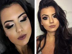 Ideas For Makeup Morenas Festival Diy Makeup Vanity, Glowy Makeup, Eyebrow Makeup, Makeup Eyeshadow, Beauty Makeup, Hair Makeup, Lip Makeup Tutorial, Makeup Tutorial For Beginners, Bridal Makeup