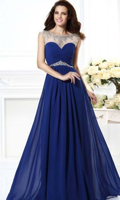 Royal Blue Formal Dresses | Beauty | Pinterest | Backless long ...