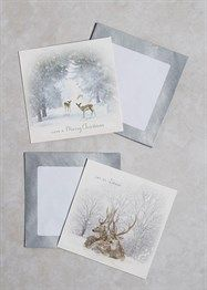 20 Pack Stag Christmas Cards (13cm x 13cm)