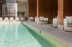 Lounge poolside at Waldorf Astoria Panama.