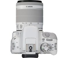 Canon - EOS Rebel SL1 DSLR Camera with EF-S 18-55mm f/3.5-5.6 IS Zoom Lens - White - Top Zoom