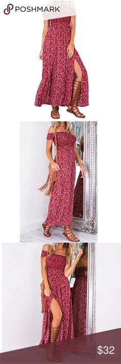 NEW Boho Off Shoulder Maxi Panel Dress, S-XL ★Material: Cotton Blend. ★Item Style: Boho Style  ★Occasion: Casual,Beach,Resorts,Vacation, ★Hand-wash in Cold water.    💠Refer to last pic for sizes. Dresses Maxi