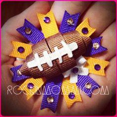 RM Football Team Ribbon Cutie MTO by RockinMommi on Etsy, $10.00