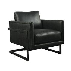 Luxe Club Chair Black - Chairs - MOE'S Wholesale Ski Lift Chair, Hudson Furniture, Club Chairs, Armchair, Black Leather, Black Chairs, Home Decor, Antique, Sofa Chair