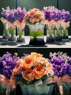 Purple And Peach Wedding