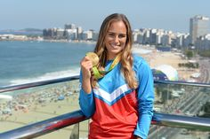 Monica Puig with her Gold Medal
