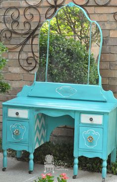 1930's-dressing-vanity-makeover by Vintage Charm Restored