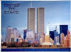 World Trade Center WTC - Twin Towers before 9/11/2001 Art Print Foil