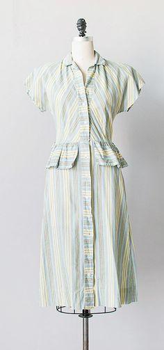spring tides dress | vintage 1940s dress