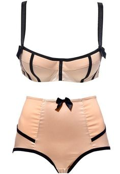 Pink and black vintage lingerie - 1950s?