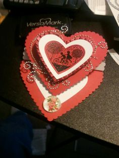 Valentine easel card ....