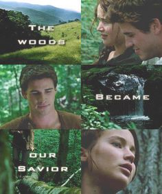 Gale and Katniss, for all you team gale fans <<<< Gale was my favorite, but then Mockingjay happened. O_O