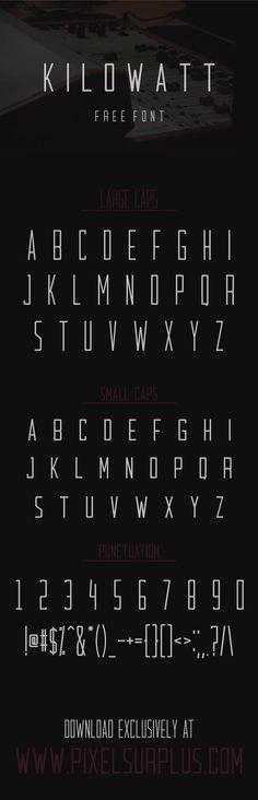 KILOWATT - FREE FONT par Pixel Surplus  #font #typeface #typegang #typespire #typematters #type #fontdesign #typography #graphicdesign #typographyinspire #handmadefont #freefont