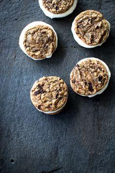Dark Chocolate Chunk Cookie Ice Cream Sandwiches