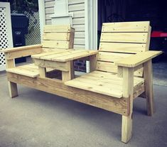 Woodworking Furniture Plans, Diy Furniture Plans Wood Projects, Diy Pallet Furniture, Wood Bench Plans, Wooden Chair Plans, Wood Benches, Outdoor Wood Furniture, Chair Bench, Free Printable