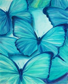"""Print on canvas Painting """"butterfly"""" Mоrfo,Home decor,wall decor,azure, Streched on wooden frame & READY TO HANG door Happyheartedart op Etsy https://www.etsy.com/nl/listing/217925501/print-on-canvas-painting-butterfly"""