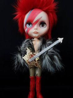 Custom David Bowie Blythe Doll