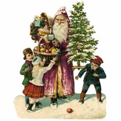 Victorian Christmas Ornament Photo Cut Outs