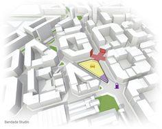 Architectural diagram, Archmedium International Competition, by Bandada Studio.