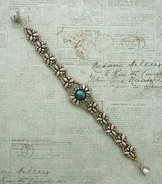 Linda's Crafty Inspirations: Bracelet of the Day: Isabelle - Pewter & Petrol