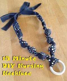 Traxel Time: 15 Minute DIY Nursing Necklace - a comfortable necklace for breastfeeding babies to hold or pull on while they eat.