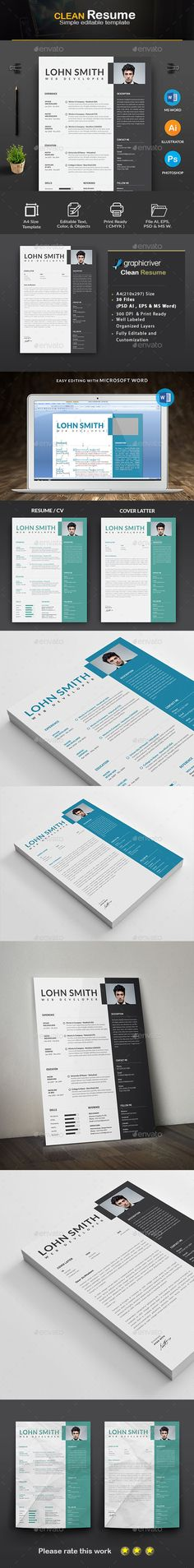 Resume - Resumes Stationery Download here https\/\/graphicriver - resume paper size