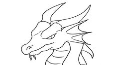 dragon easy drawing head coloring draw simple step drawings dragons pencil sketch google cool detailed deviantart animal falcoaircraft template