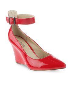 Madison Phoebe high Heel Wedge Red Patent