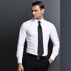 Mens Business Shirts Slim Fit White Dress Shirts,Latest Formal ...