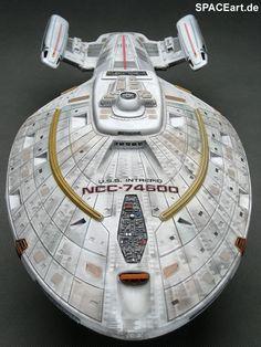 Star Trek: U.S.S. Intrepid NCC-74600, Fertig-Modell ... http://spaceart.de/produkte/spa014.php
