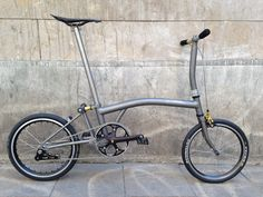 A custom Brompton that I'd actually consider... probably needs a bigger gear ratio, and a belt drive... Obviously!