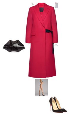 """""""Event in London"""" by stylev ❤ liked on Polyvore featuring D.Efect, Wolford, Christian Louboutin, Alexander McQueen and Christian Dior"""