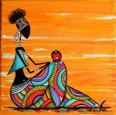 """""""Rast & # seated"""" colorful painting – About Hair Pop Art, African American Artwork, African Art Paintings, African Drawings, Afrique Art, Art Populaire, Art Premier, Indian Folk Art, Afro Art"""
