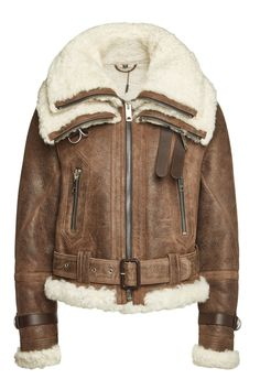 Burberry Leather Jacket with Shearling Burberry Leather Jacket, Vintage Leather Jacket, Leather Jackets, Military Bomber Jacket, Bomber Jackets, Aviator Jackets, Boutique Moschino, Winter Jackets, Mens Fashion