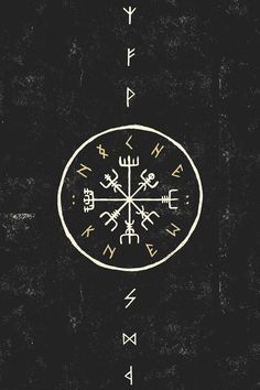 """kahankiller: """" Vegvísir, also known as the Norse Compass. It's magick keeps you from getting lost, and protects you on your travels. """" 🌙"""
