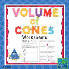 This product includes two pages of practice problems (13 total problems) on volume of cones